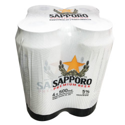 SAPPORO 5% Alcohol Beer / 啤酒 - 500mlx4 18 years old+