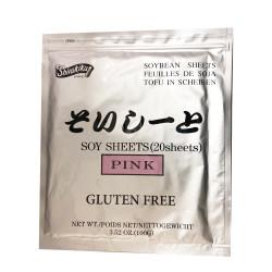 Soy Sheets - Pink / 日本寿司豆皮-粉 - 100g