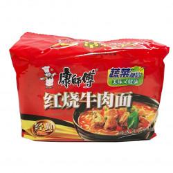 KangShiFu Braised Beef Noodles/康师傅红烧牛肉面 -  5 Pcs