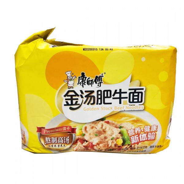 KangShiFu Golden Stock Beef Noodles / 康师傅金汤肥牛面 -  5 Pcs