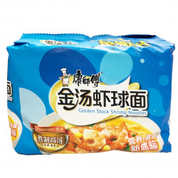 KangShiFu Golden Stock Shrimp Noodles / 康师傅金汤虾球面 -  5 Pcs