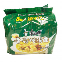KangShiFu Mushroom and Stewed Chicken Noodles/康师傅香菇炖鸡面 -  5 Pcs