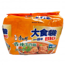 KangShiFu Spicy Beef Noodles (Big)/康师傅香辣牛肉面(大食袋) -  5 Pcs