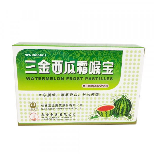 Watermelon Frost Pastilles / 三金西瓜霜喉宝