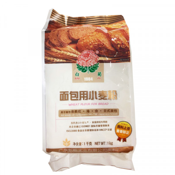 BaiJu Specialty Wheat Flour for Bread / 白菊面包用小麦粉  -  1kg