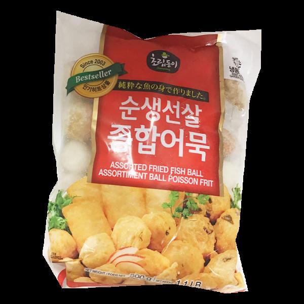 Assorted Fried Fish Balls / 韩国混合鱼丸- 500 g