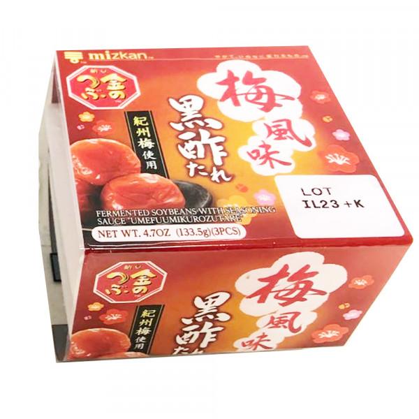 "Fermented Soybeans with Seasoning Sauce ""Umefuumikurozutare"" /  梅风味黑酢 - 133.5g"
