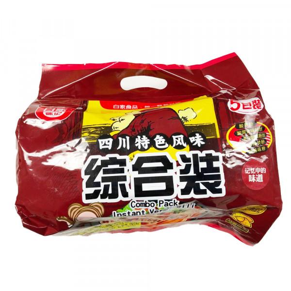 BaiJia Combo Pack Instant Vermicelli - 5UN/Bag