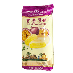 MaoShanWang Baked Passion Fruit Flavour Cookie / 猫山王百香果饼 -300g