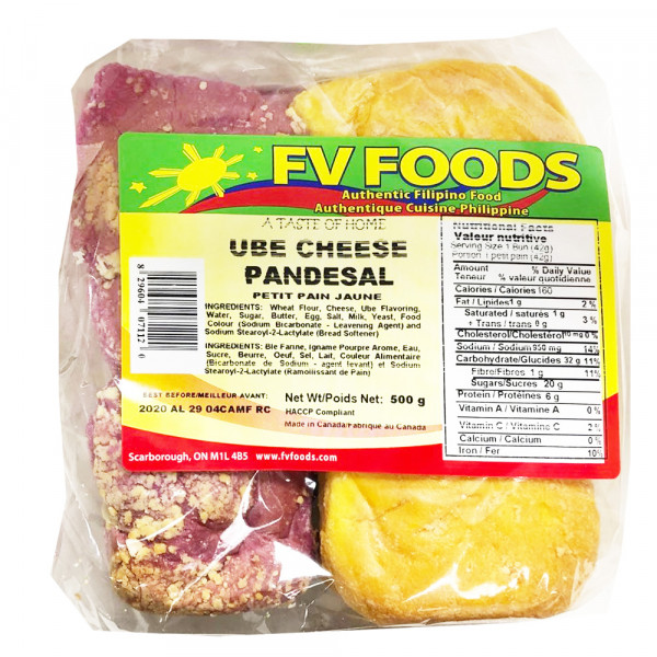 FV Foods UBE Cheese Pandesal / FV Foods 奶酪面包 - 500g