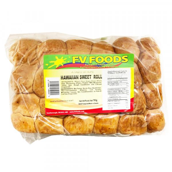 FV Foods Hawaiian Sweet Roll / FV Foods 夏威夷甜卷面包 - 750g