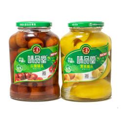 Weipintang Canned Hawthorn / Canned Yellow Peach / 味品堂山楂罐头/黄桃罐头- 720g