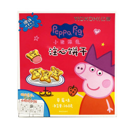 Peppa Pig Cookies (Strawberry flavor) / 小猪佩奇注心饼干(草莓味) - 160g