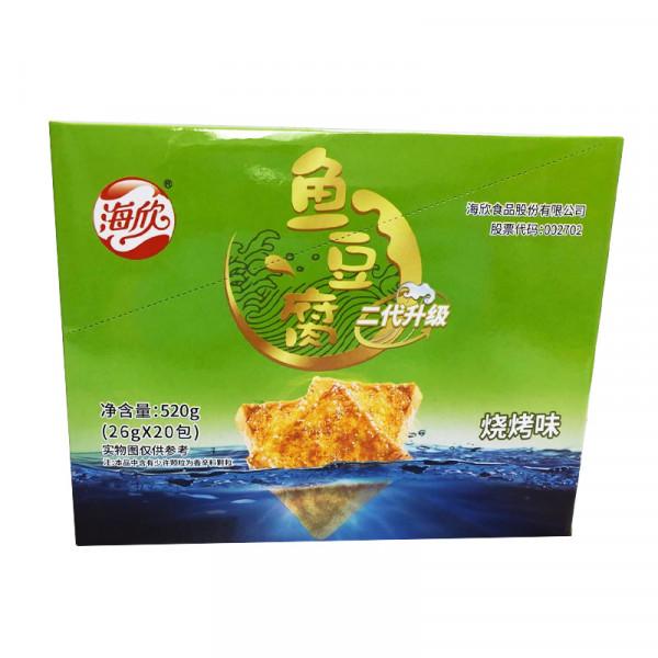 HaiXin Fish Tofu Chips(BBQ) / 海欣鱼豆腐(烧烤味) - 20*26g