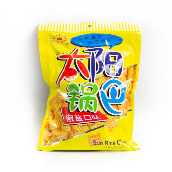 Salt and Pepper Sun Rice Chips - 130 g