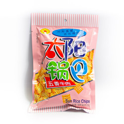 Five Spices Beef Sun Rice Chips - 130 g