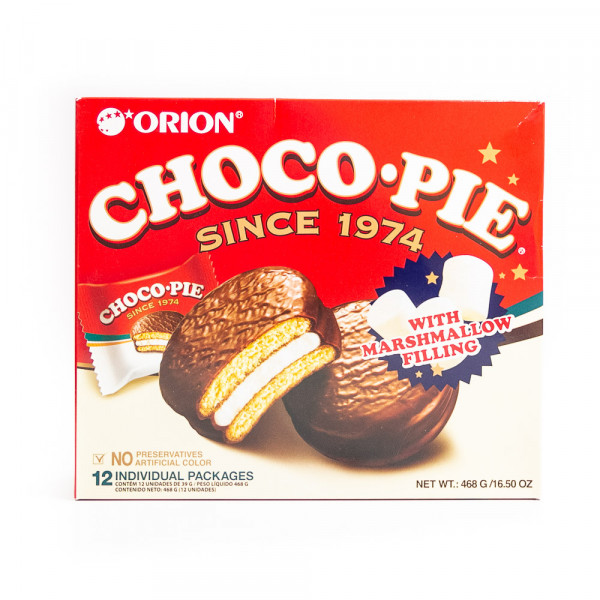 LOTTE choco-pie with marshmallows / 棉花糖味巧克力派 468g